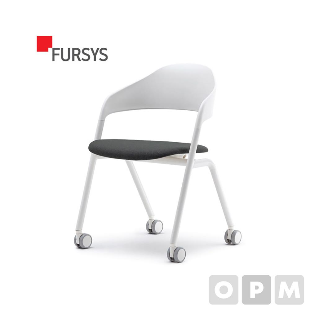 퍼시스 LOLLY CH0026 시리즈 CH0026WMC 회의용 의자(캐스터/좌판패딩) 453