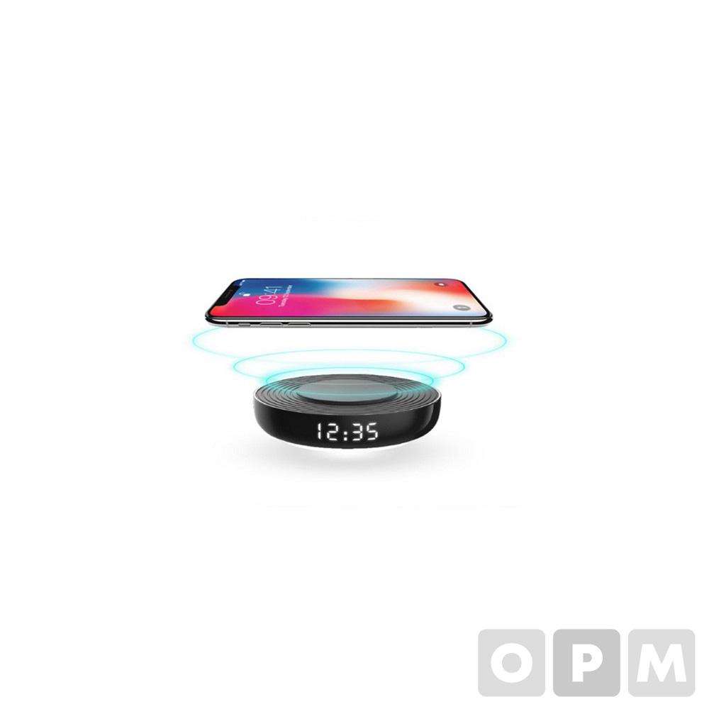 디지털 시계 겸용 무선 충전기(WC-50/로이체)