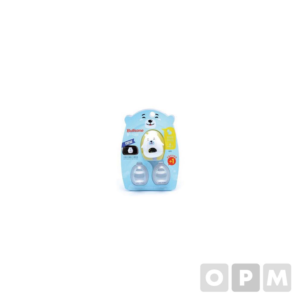 폴라패밀리 통풍구 방향제(북극곰 부부/아쿠아향/4.3ml*2개/불스원)