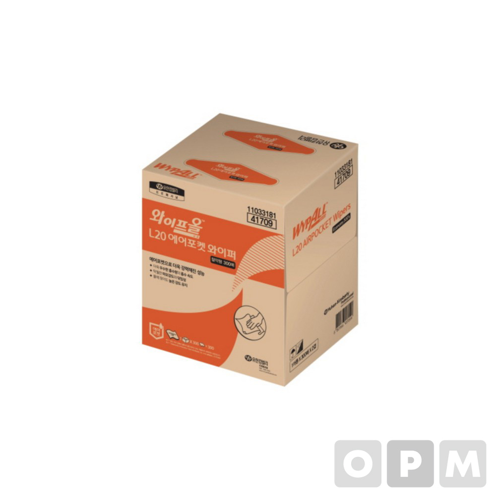 와이프올 L20 에어포켓 와이퍼(300매/41709/유한킴벌리)