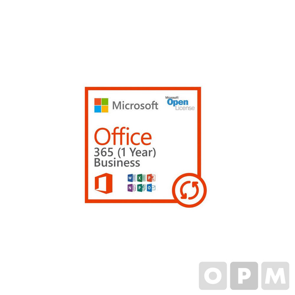 365 Business Open 라이선스(Microsoft/1년사용/기업용)