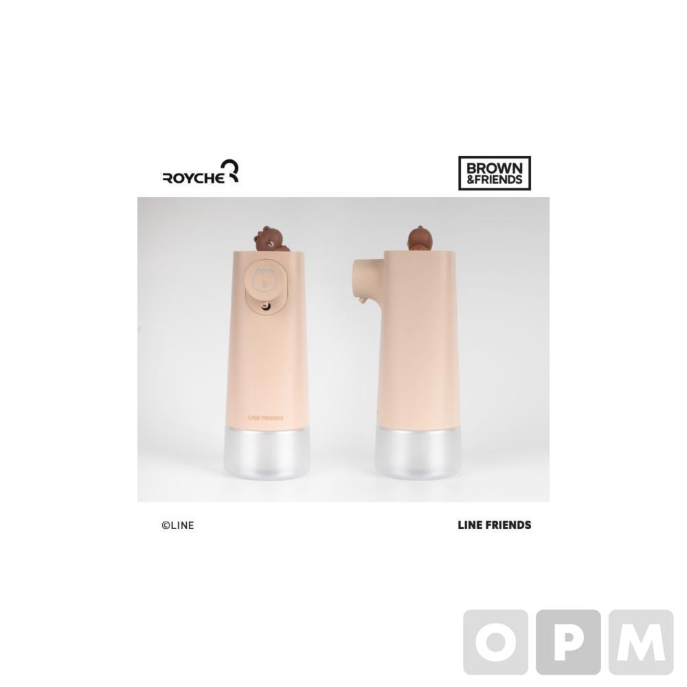 라인프렌즈 자동 거품 손세정제(BF-ASD-MINI-BR/브라운)