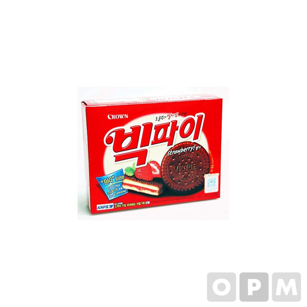 빅파이(216g/12입/딸기맛/크라운제과)