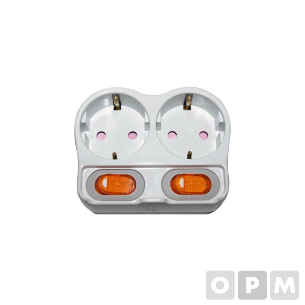 2구 개별스위치 멀티탭(광명전기)