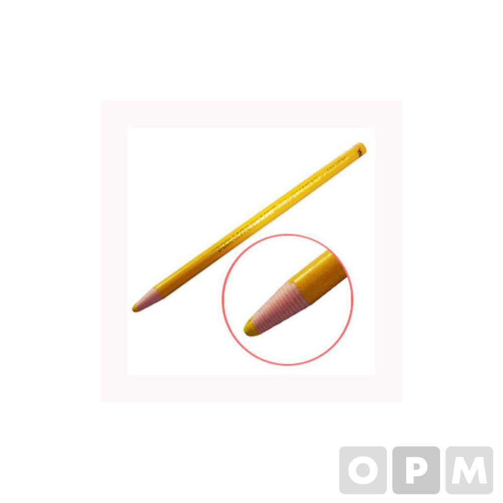 보성화학 구리스 펜(유리용 색연필/노랑)(타스)