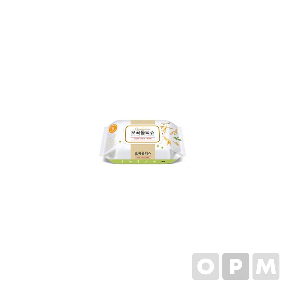 오곡물티슈 캡 (100매/깨끗한나라)