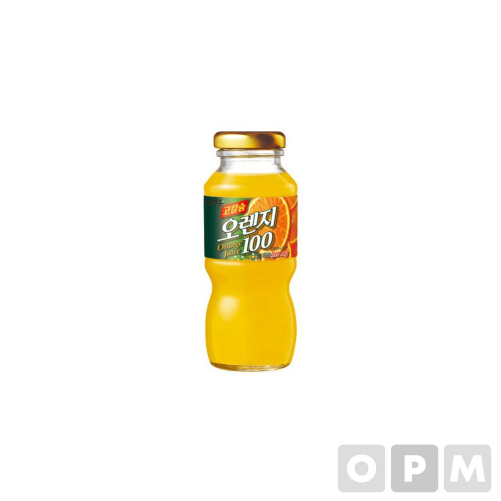 웅진 고칼슘오렌지100(180ml/12병/BOX/웅진식품)