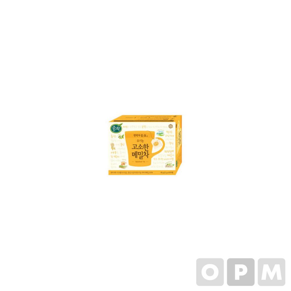 순작 유기농 고소한 메밀차(1.5g*40T/샘표식품)