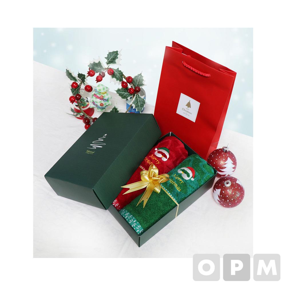 크리스마스 타올 2p세트 (50개)